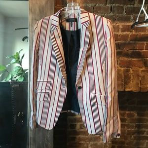 Rag & Bone red/cream striped blazer sz 2